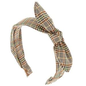Plaid Glen Check Schoolgirl Knotted Headband